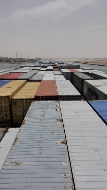 Einfahrt in Port Suez