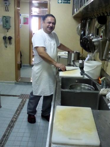 Der wichtigste Mann an Bord - der Koch