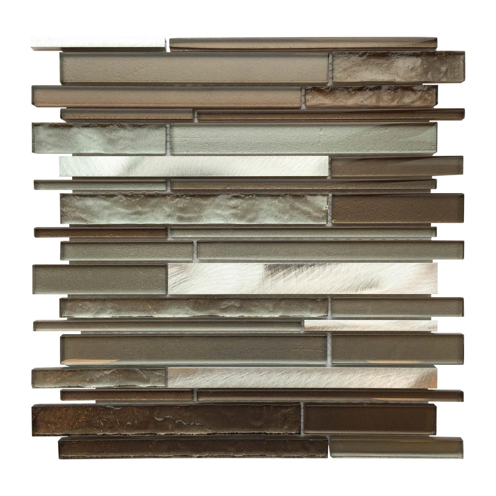 AL3300 Glass Tile and Stone, Strip Mosaic Backsplash