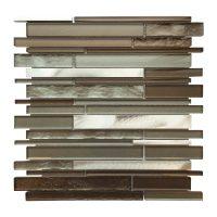 AL3300 Glass Tile and Stone, Strip Mosaic Backsplash ...