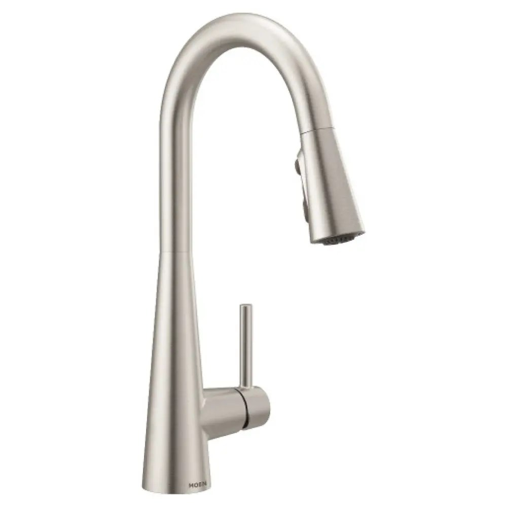moen sleek kitchen faucet spot resist stainless 7864srs