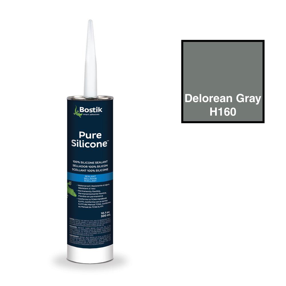 bostik tub tile caulk 100 pure silicone delorean gray h160