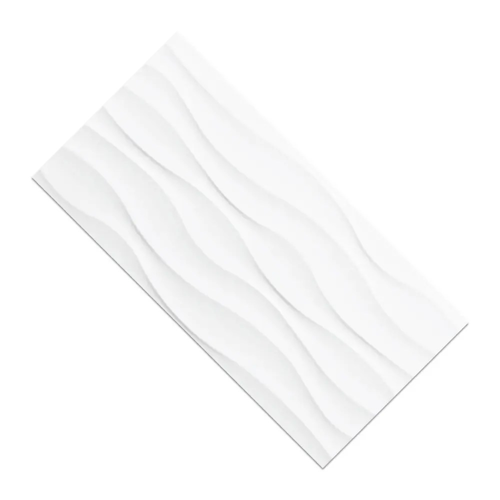 msi dymo wavy white 12 x 24 glossy ceramic wall tile 16 sq ft per carton