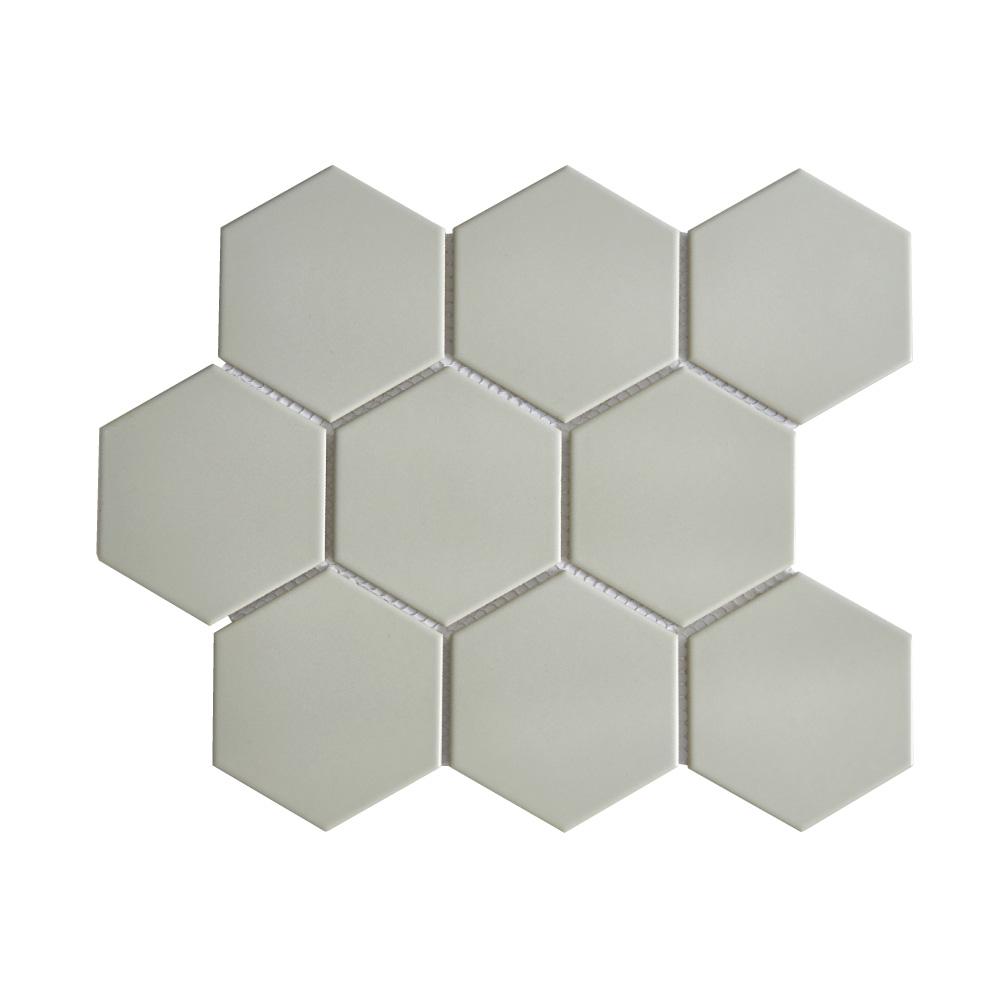 grey 4 hexagon porcelain mosaic tile