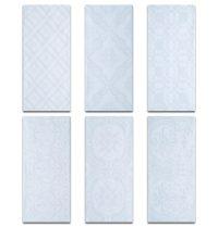 "Roca Maiolica Decorative White Ceramic Tile 4"" x 10 ..."