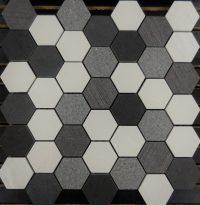 PTH7017 Porcelain Mosaic Salt N Pepper Hexagon Mosaic ...