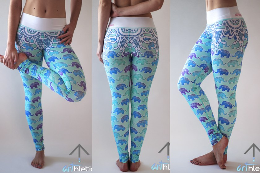arthletic wear elephant printed leggings
