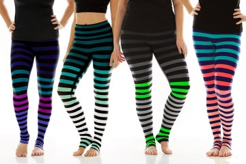 kdeer stripe yoga leggings review