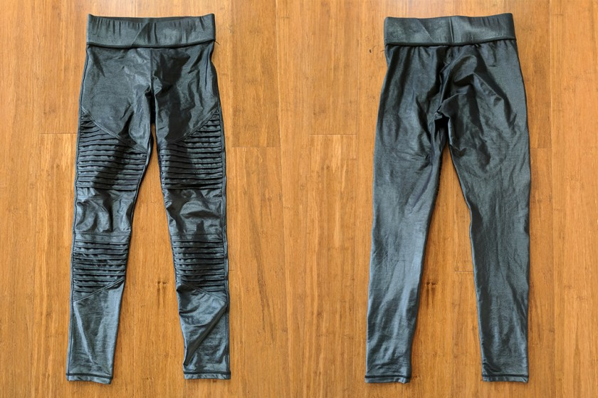 carbon38 moto leggings review abbot kinney front and back