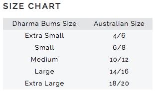 Dharma Bums Size Chart InternationalDharma Bums Size Chart International