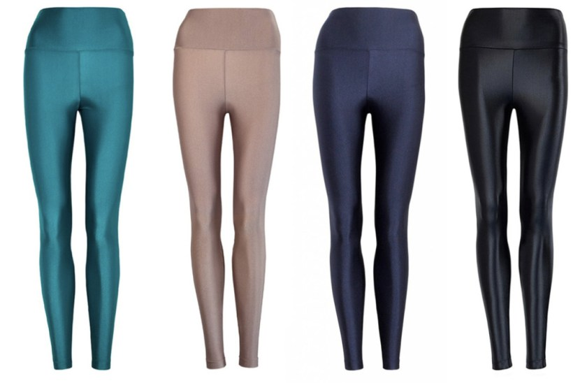 forlegs activewear review high waist leggings shiny solid schimiggy