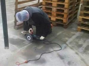 Abb. 4: Arbeitsschutz auf einer Berliner Baustelle - Quelle: Dirk Bardehle