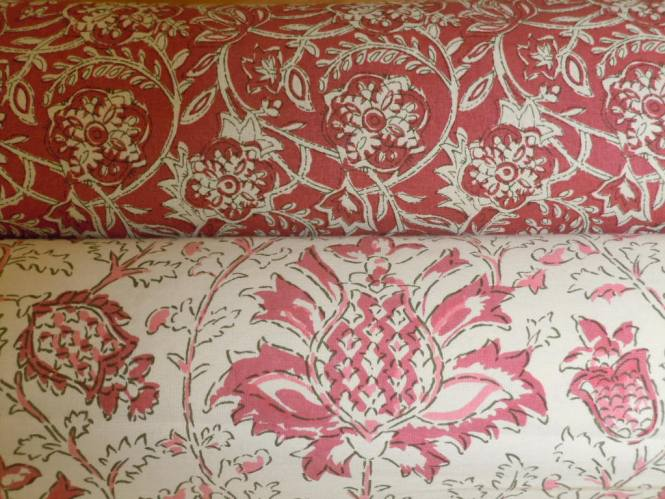 Love Birds Fabric Pink And Gray Traditions