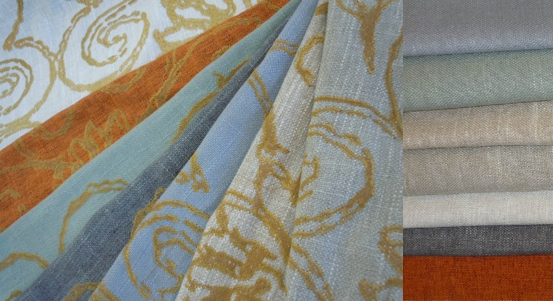 Coordinating Gold Embroidered And Plain Solid Fabrics