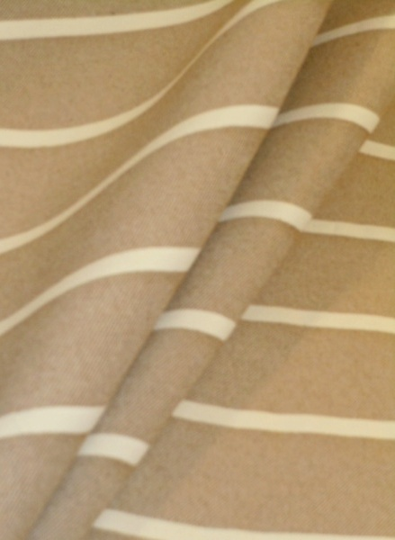 Taupe Wide Stripe Upholstery Fabric