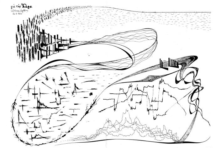 SCHLACHTEN | Anestis Logothetis – The Art of Displaced Sounds | Logothetis Ensemble | Image: Ghia Tin Ora ©Anestis Logothetis 1975