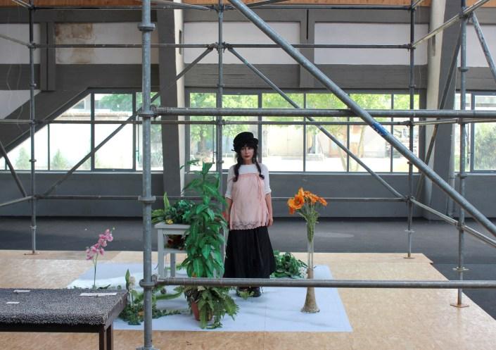 SCHLACHTEN | DISPLACED 2015 Künstlerin Colette in der Mendelsohnhalle | Image © Emily Pütter