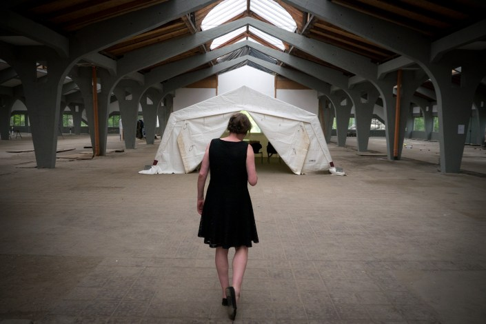 SCHLACHTEN | DISPLACED 2015 | Video-Tent | Image © Dan Farberoff