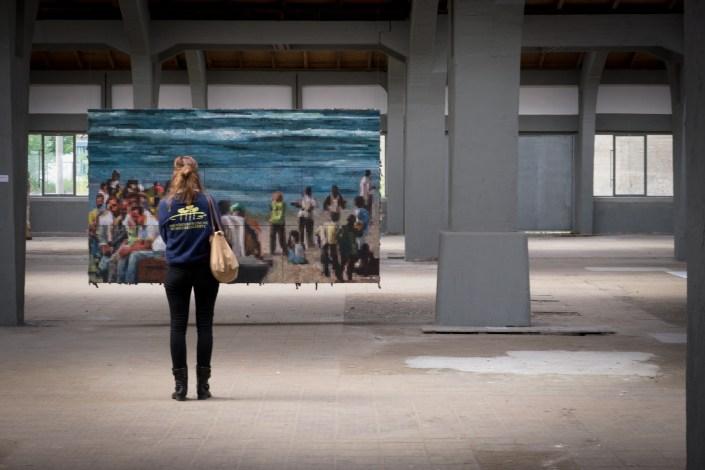 SCHLACHTEN | DISPLACED 2015 | Stranded | Peschken / Pisarsky (Urban Art) | Image © Dan Farberoff