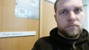Jespers første kontakt med psykiatrien - afdeling E3 i Herning