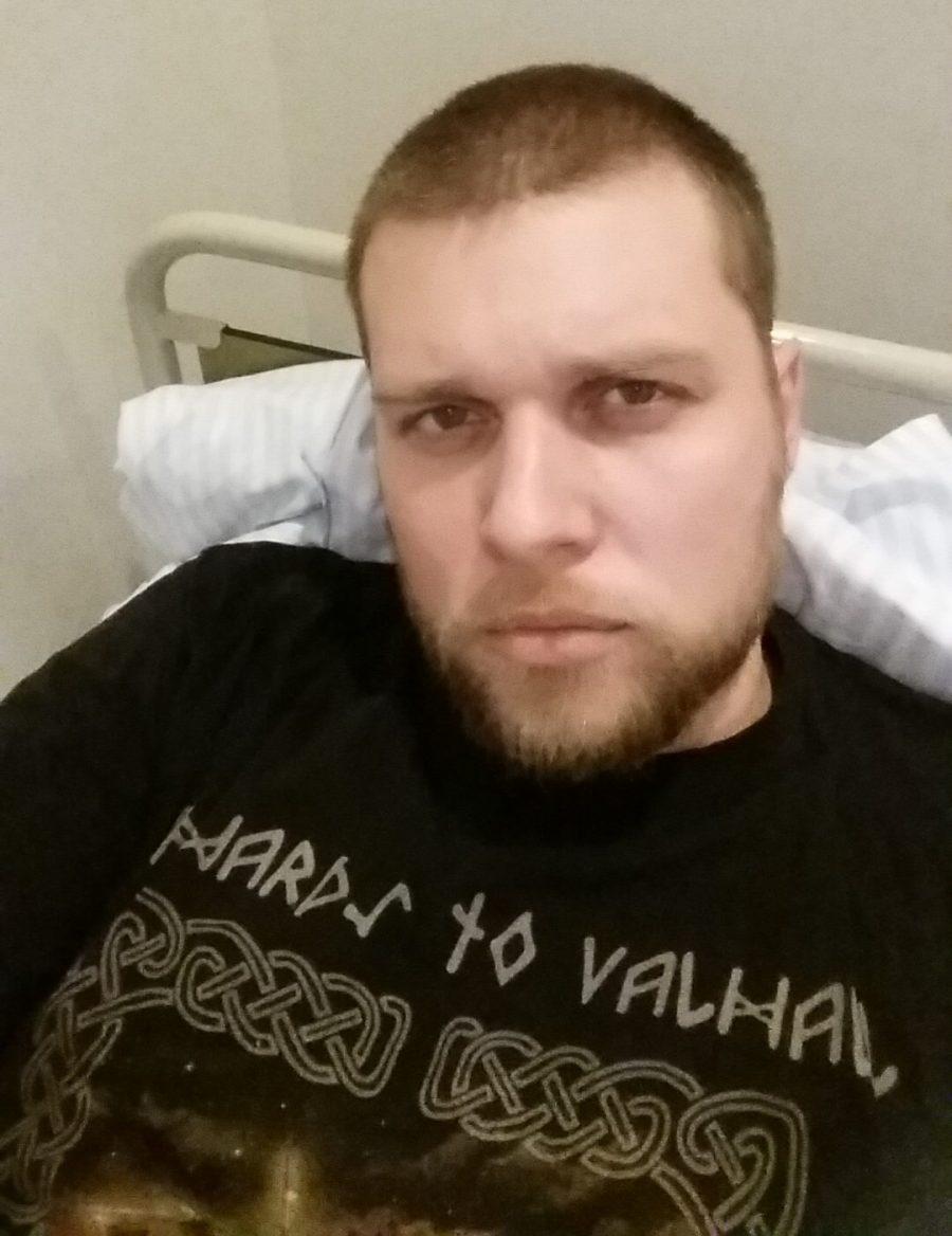 In my room at the psyciatric ward