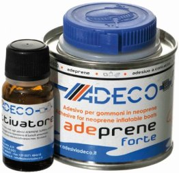 Adeco Adeprene forte Schlauchboot 2-Komponenten Kleber für Neopren 135g -