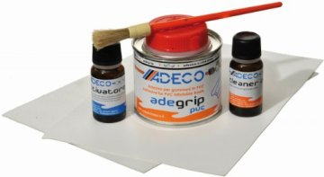 Adeco Schlauchboot Reparaturset Profi PVC GRAU -