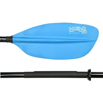 Blueborn XT-Fibre 225 - Fiberglas Doppelpaddel 225cm, asymetrische verstellbare Paddelblätter, 1050g -
