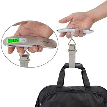 Digitale Kofferwaage MYCARBON Gepäckwaage Analog für Reisekoffer Küche Angeln 50KG / 110 lb Hängewaage Digitalwaage Fischwaage -