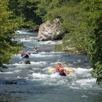 Erlebnisgutschein: Rafting - im Canadier in Schneizlreuth   meventi Geschenkidee -