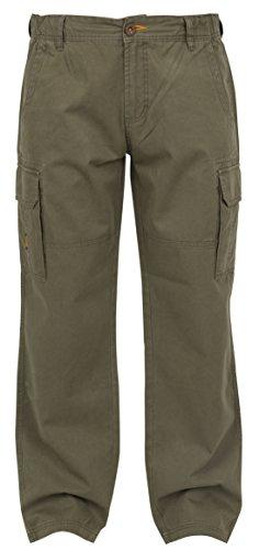 Fox Chunk Heavy Twill Cargo Pants Hose Angelhose khaki, Anglerhose, Outdoorhose, braun, Größe:L -
