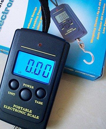Hensych® LCD Bildschirm Mini Digitale Kofferwaage Hängewaage Fischwaage Reisewaage Gepäckwaage Scale Digital Hängende Waagen für Angeln Gepäck Suitcase Parcel Posting Travel 40 KG -