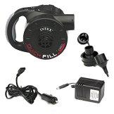 Intex Luftpumpe Quick Fill Pump mit Akku, inkl. Ladekabel, schwarz, 230V/12V -