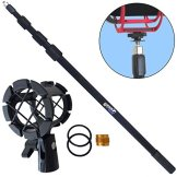 KEEPDRUM MPB03 Boompole 3m Tonangel Teleskopangel + PCMH1 Spinne elastische Halterung Shockmount für Richtmikrofone -