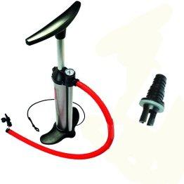 Luftpumpe Schlauchbootpumpe mit Manometer Bravo 101 + Halkey Roberts Adapter -