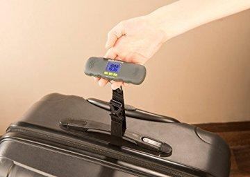 PEARL Digitale Kofferwaage (0 - 40 kg) mit LCD-Display -