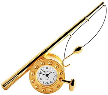 Royaltime Miniaturuhr – Angelrute – Größe 11,0 cm Uhr 300402000145 -