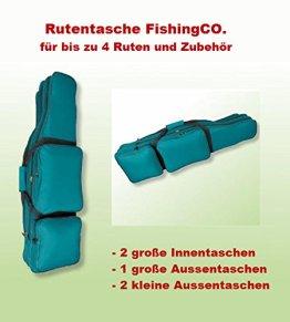 Rutentasche/ Angeltasche für Teleskoprute, Rutenfutteral, 5 Fächer für 2-4 Ruten -