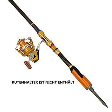 Supertrip TM Angelruten Angelrollen Combo Angelrute mit rolle Salzwasser Spinnrute und Spinnrolle angelset komplett Teleskoprute mit rolle Kit Size 1,8M/5,9ft+3000 -