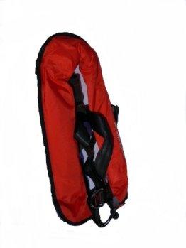Vollautomatische Rettungsweste Schwimmweste in rot 150 N mit Lifebelt -