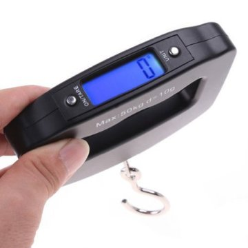 WanEway 50kg*10g Mini Digital Hanging Luggage Fishing Scale by waneway -