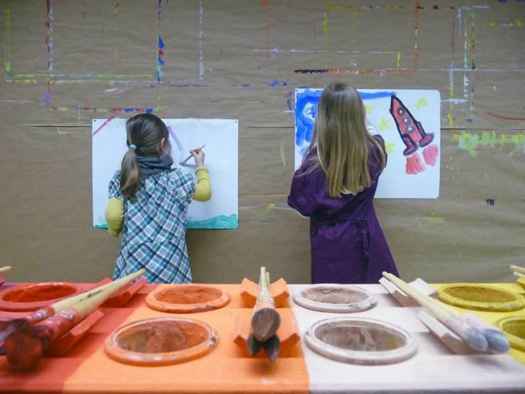 Im MalOrt Bingen kann man malen ohne Anweisungen und Bewertung