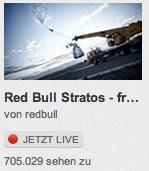 RedBull Startos Zuschauerzahlen um viertel vor fünf über 700.000