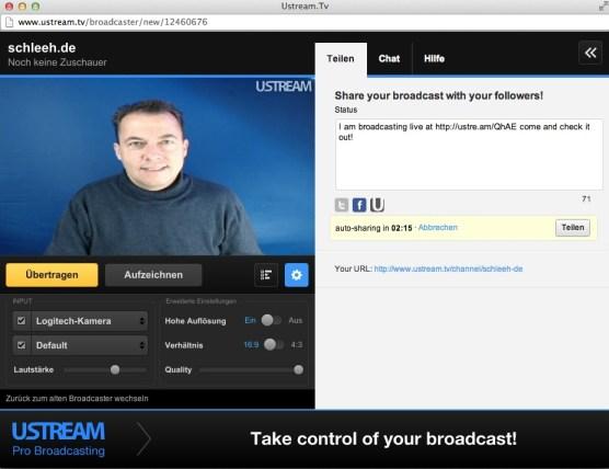 Ustream Videostreaming