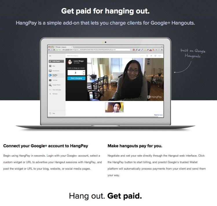 Hangpay Internetseite