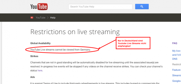 Restrictions on live streaming   YouTube Help