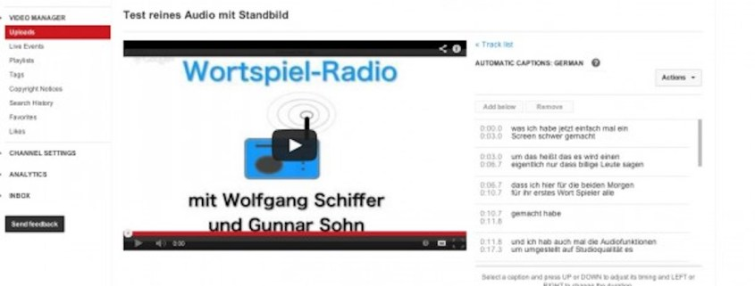 Radio über Youtube