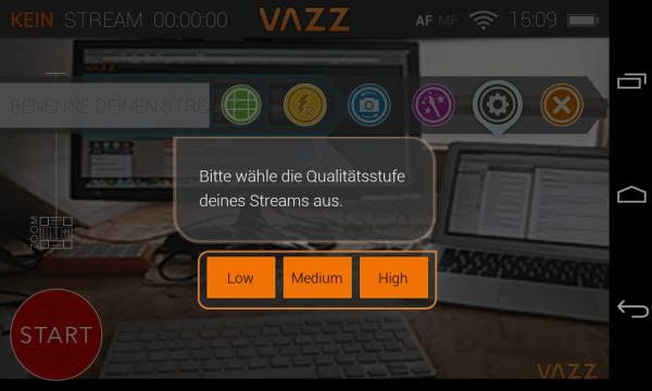 Screenshot VAZZ Auflösung