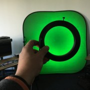 LED-Ring bestrahlt reflektierende Leinwand