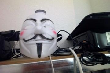 Fonodrom Berlin Heckpiets Guy Fawkes Maske